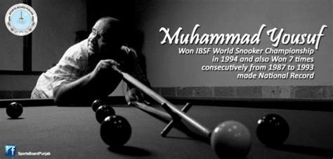 Muhammad Yousuf Most Successful Snooker Player From