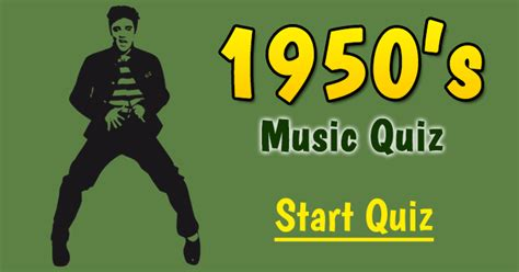 1950's Music Quiz - 10 Hard Questions
