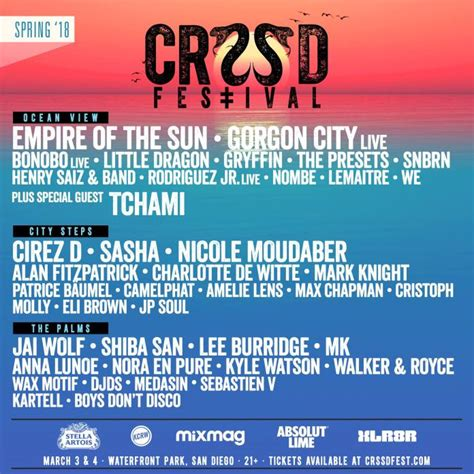 CRSSD Releases Stellar Phase 1 Lineup For 2018 Spring Event
