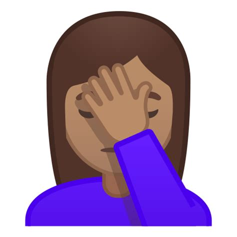 Person Facepalming Emoji with Medium Skin Tone Meaning
