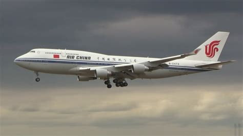 """""""Air Force One"""" of China - B747-400   Landing in"""