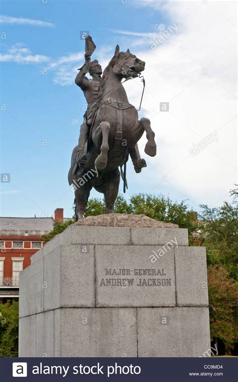 Statue of Major General Andrew Jackson on his horse in