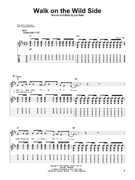 Walk On The Wild Side by Lou Reed - Guitar Tab Play-Along