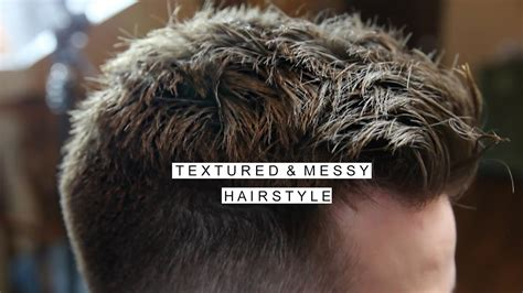 Textured Messy Hairstyle   Men's Short Hair With Fade