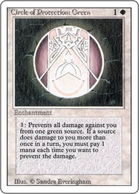 Circle of Protection: Green (Revised Edition) - Gatherer