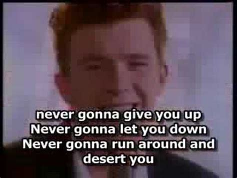 Rick Astley- Never Gonna Give You Up ( With Lyrics) - YouTube