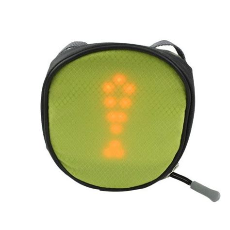 Bicycle Saddle Bag With Remote Controlled LED Traffic