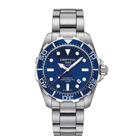 Certina DS ACTION/GR/A/STEEL/BLUE DIAL - Presis Ur & Gull AS