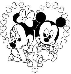 Baby Mickey And Minnie Mouse Coloring Page   H & M