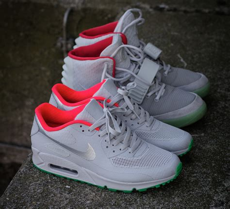 Nike Air Max 90 Hyperfuse ID Yeezy Pure Platinum