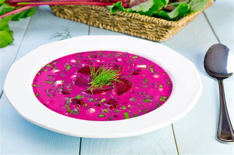 """Cold Beet Borscht Recipe From """"My Mother's Kitchen book"""